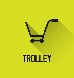 Trolley icon vector