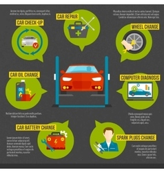 Auto mechanic infographics vector