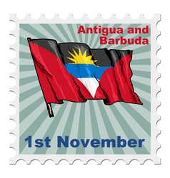 National day of antigua and barbuda vector