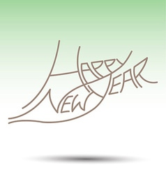 New year fonts beautifully designed vector