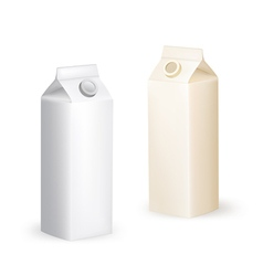 Milk packaging box vector