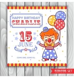 a circus clown vector image vector image