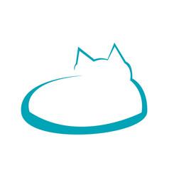 Abstract cat line art symbol design vector