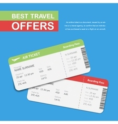 Advertising of the travel agency vector