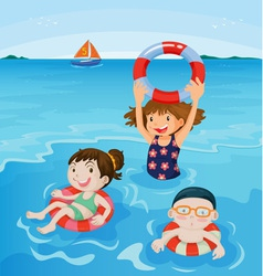 Beach fun vector image
