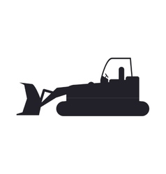 Bulldozer truck construction sign vector