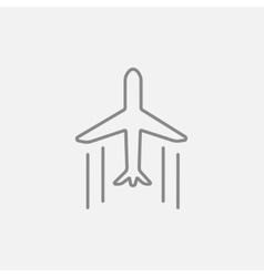 Cargo plane line icon vector