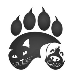 cat and dog symbol vector image