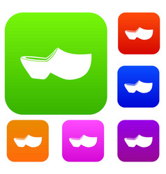 Clogs set collection vector