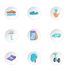 Device of future icons set cartoon style vector