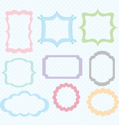 Digital frames collections vector