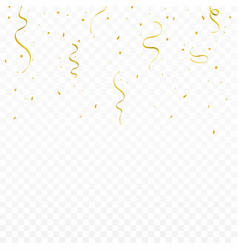 festive background with golden ribbons and vector image