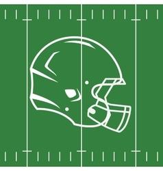 Flat Design of Football Field and Helmet vector image