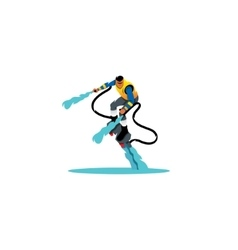 Flyboarding sign vector image