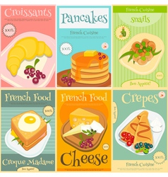 French food posters vector