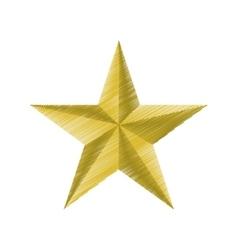 Golden star insignia icon graphic vector