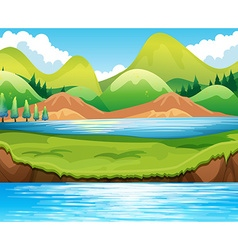 Lake scene vector image
