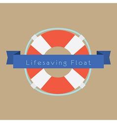 Life saving float ring vector