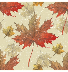 maple leaves seamless vector image vector image