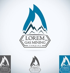 Oil gas company logo design template color set vector