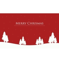 On red backgrounds tree christmas scenery vector image