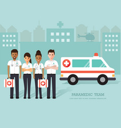 paramedics medical staff vector image vector image