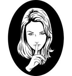 Silence Girl vector image