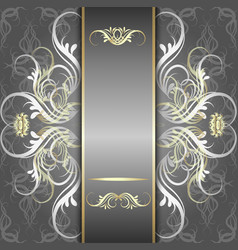 silver background with elegant pattern vector image vector image