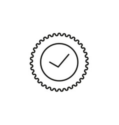 Solved sticker icon vector