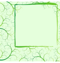 spring frame with swirls vector image vector image