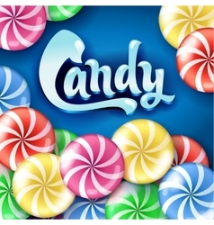 Sweet lollipop candy colorful background vector image vector image