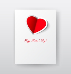 Valentines day paper card vector image
