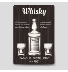 Whisky brochure flyer template vector