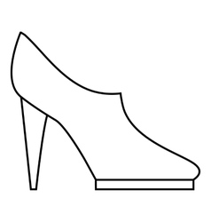 Women high heeled shoes icon outline style vector image