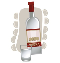 Vodka background vector