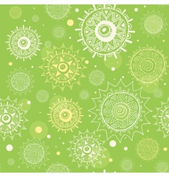 Abstract seamless green pattern vector