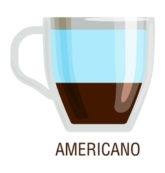 Coffee cups different cafe drinks americano vector