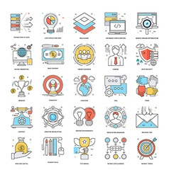 Flat color line icons 10 vector