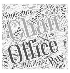 Where to buy office chairs word cloud concept vector