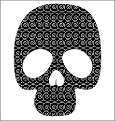Scull with graphic pattern vector image