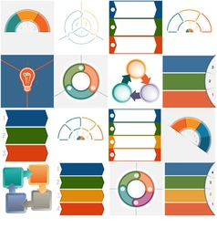 16 templates infographics cyclic processes vector