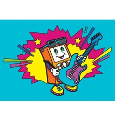 Character plays the guitar vector image