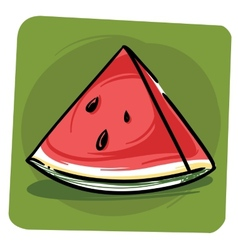 Sliced watermelon vector