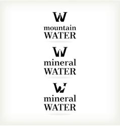 Set water symbol vector image