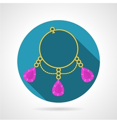 Bracelet colored icon vector