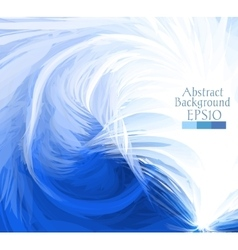 Macro feathers white blue vector