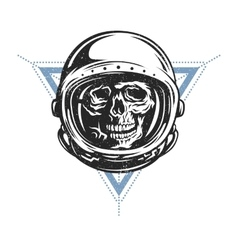Dead astronaut in spacesuit vector