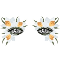 Look of the spring photorealistic eye artistic vector