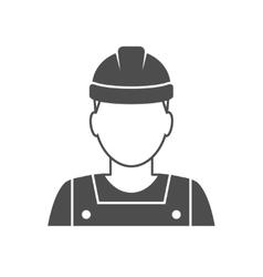 Worker avatar icon vector