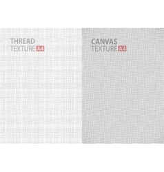 Backgrounds thread canvas textures in a4 size vector